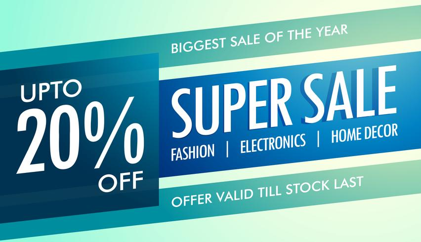 super sale banner template for your promotion download free vector