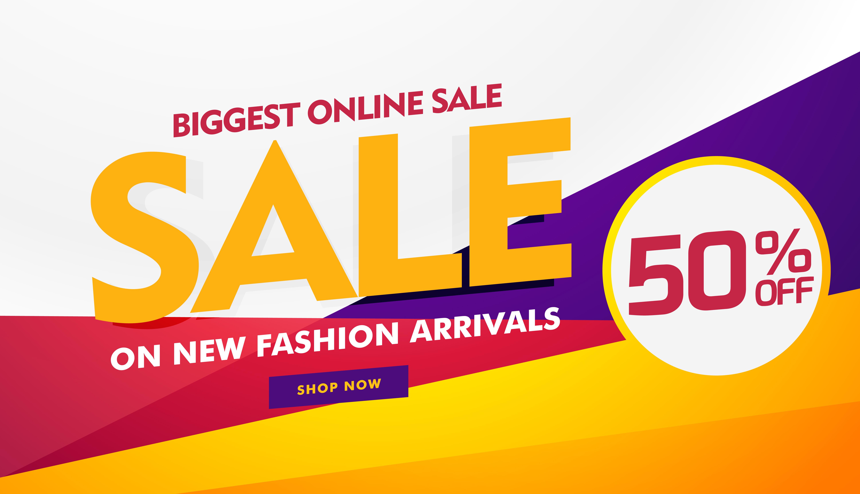 biggest online sale poster banner template design ...