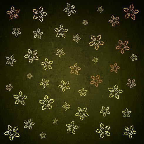 grünes goldenes Blumenblatt-Hintergrundmusterdesign