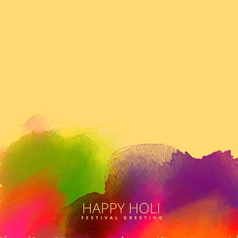 ink stain background with happy holi text