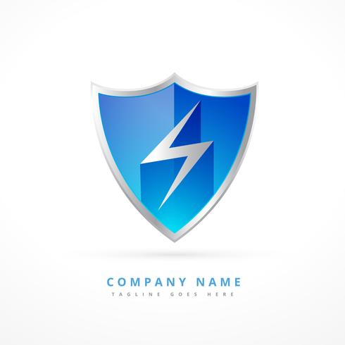 security shield logo template design