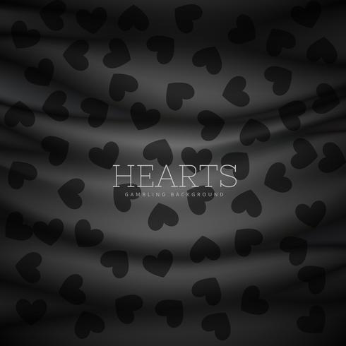 hearts symbol pattern dark background