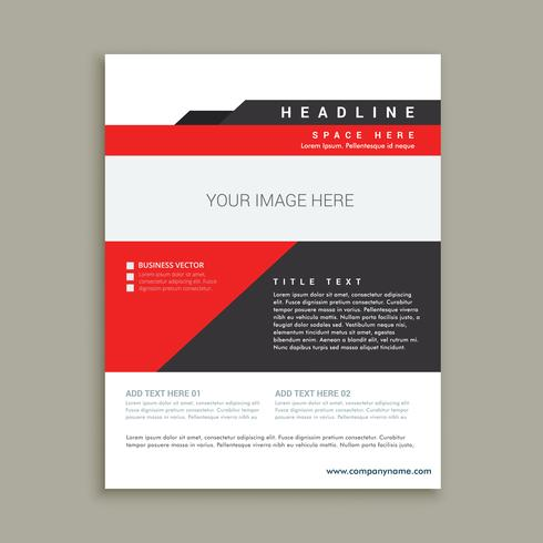 business magazine poster template