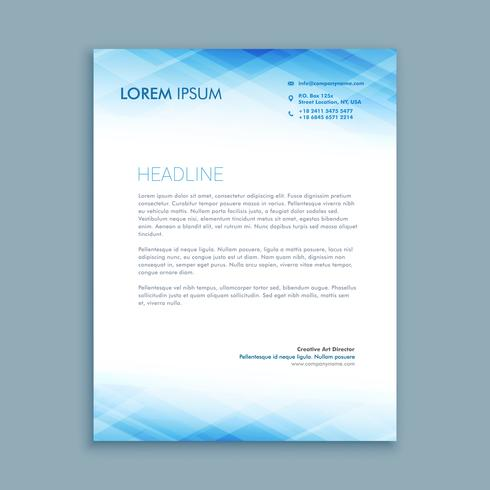 abstract business letterhead  template vector design illustratio