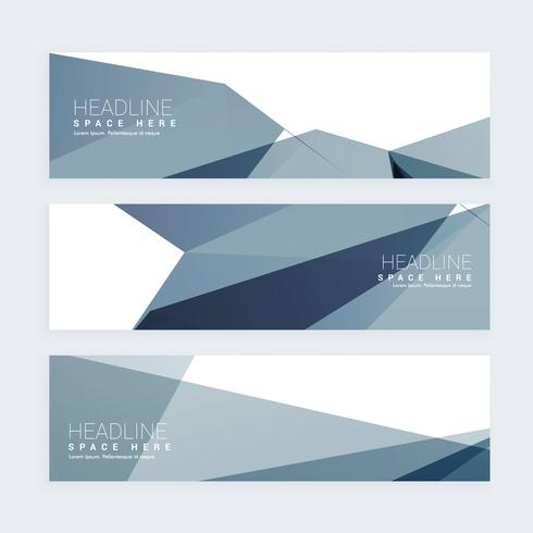 abstrakt webbrubrik uppsättning av tre