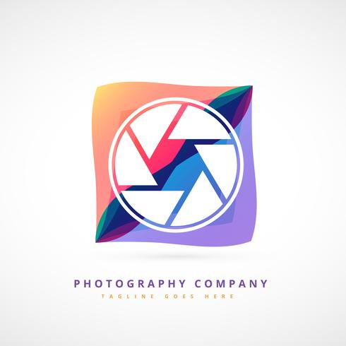 abstrakte Fotografie Logo Design Illustration