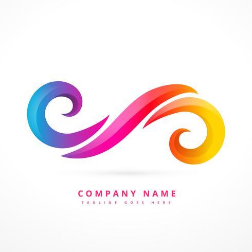 abstrakt firma logotyp mall design illustration