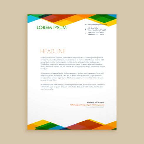abstract colorful letterhead template vector design illustration