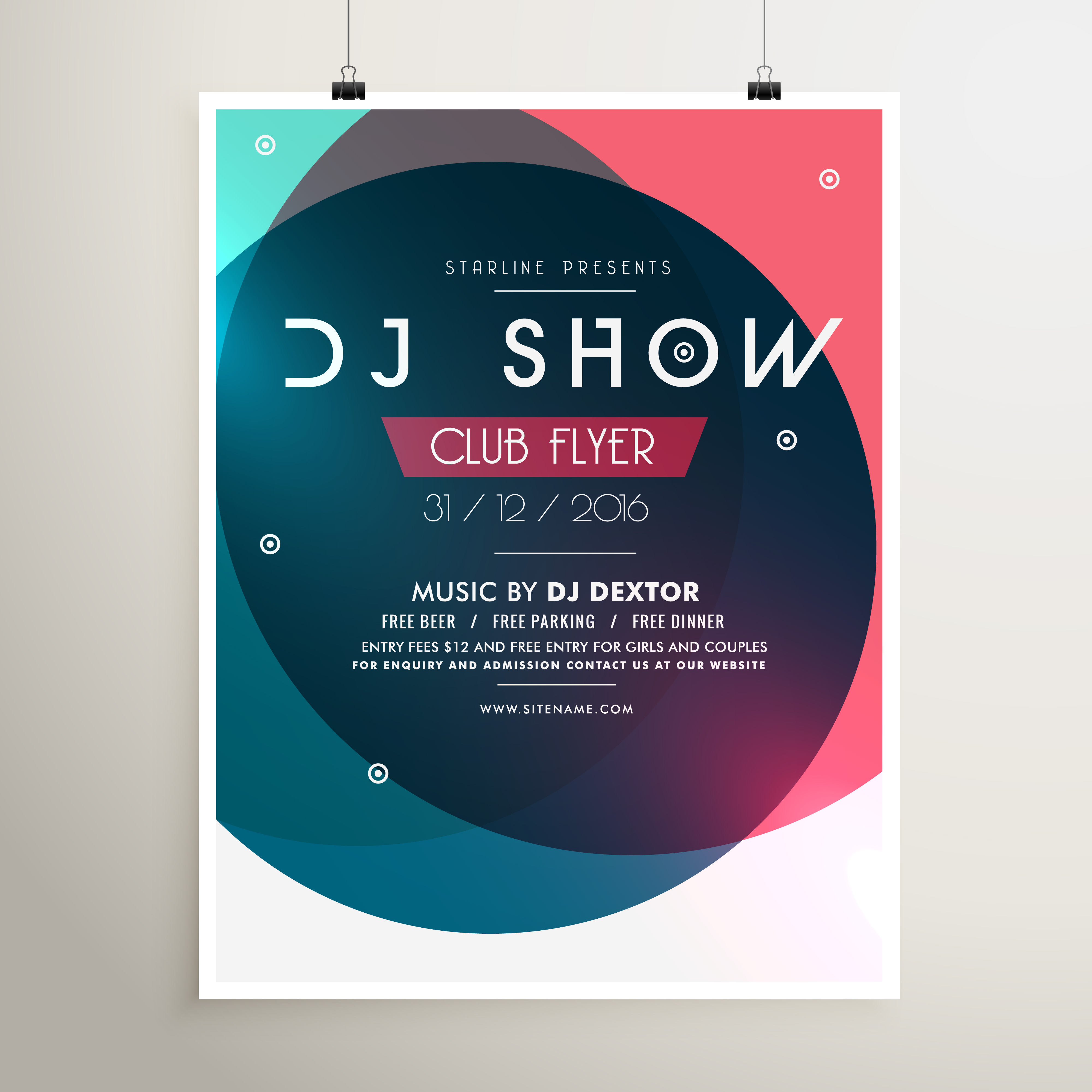 Event: Awesome Music Party Event Flyer Template With Colorful