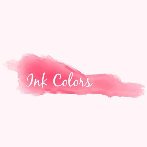 pink ink color splash vector design illustration