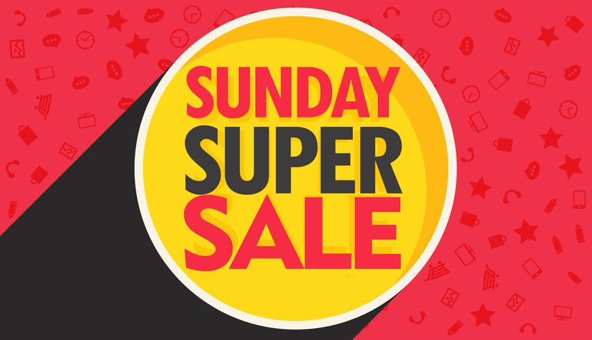 sunday super sale discount banner design for your marketing and