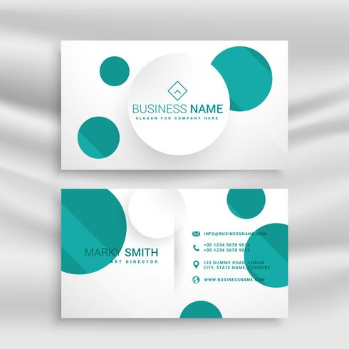 minimal blue dots busienss card design template