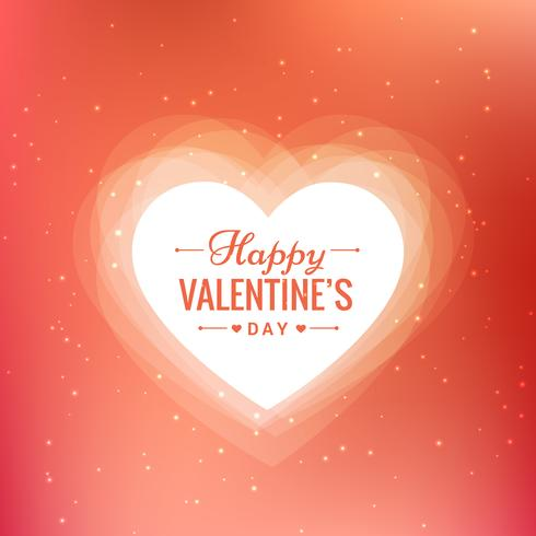 happy valentines day beautiful background vector design illustra