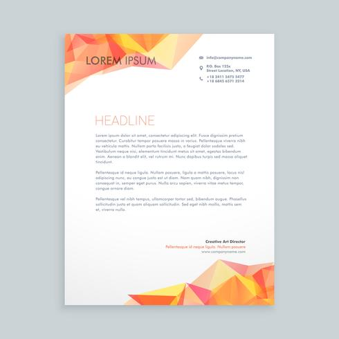 modern business letterhead template vector design illustration