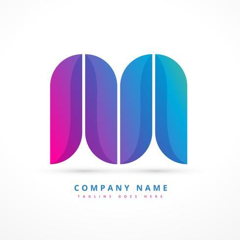 kleurrijke abstracte vorm logo ontwerp illustratie