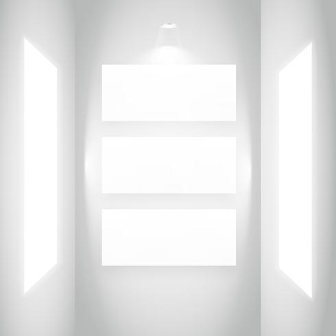 display picture frame in white wall