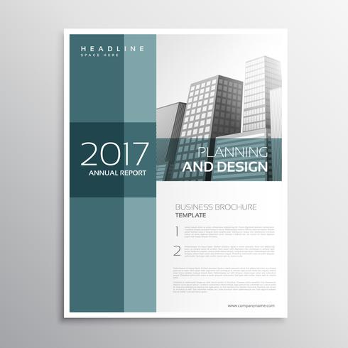 elegant business leaflet template design in a4 size