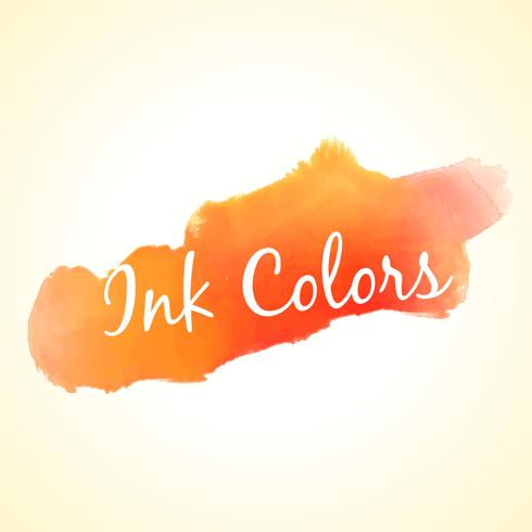 orange ink colors splash vector design illustration
