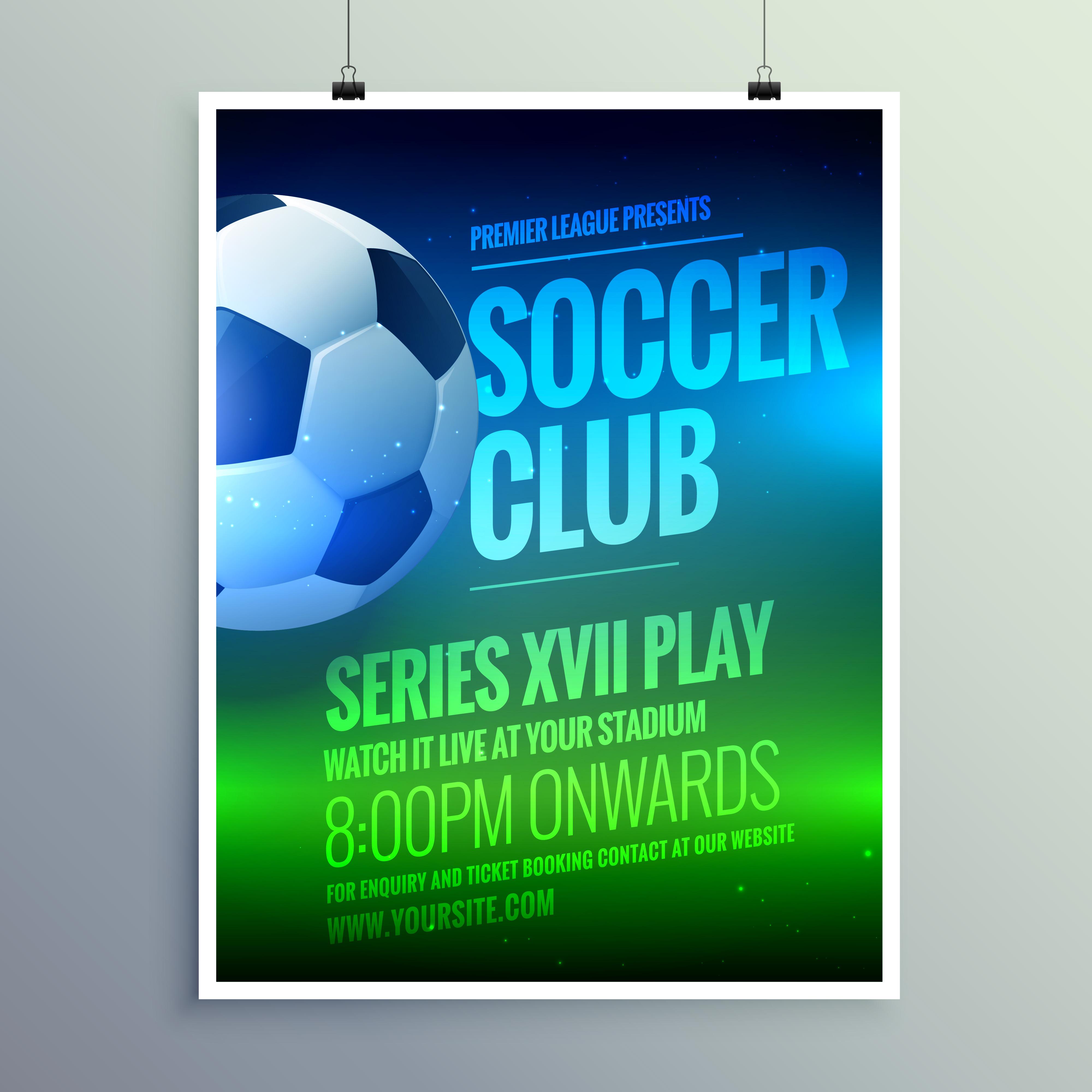 soccer invitation free vector art 7722 free downloads