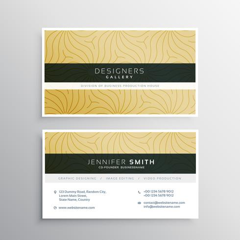 elegant business card template with abtract pattern