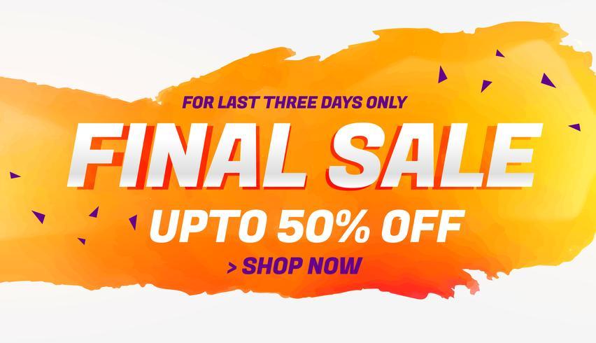 final sale discount coupon voucher design template