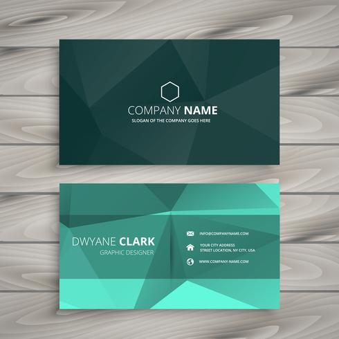 abstract polygonal shape business card template vector design il