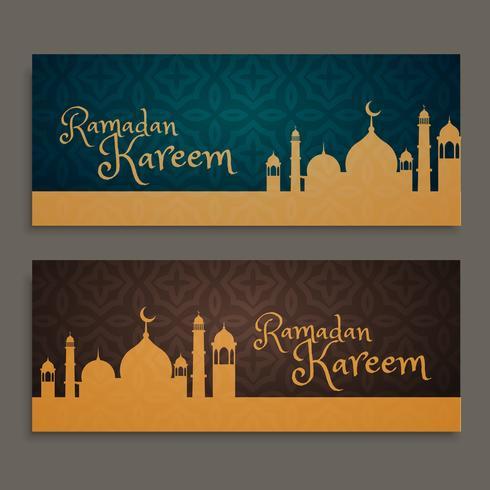 ramadan kareem banners set