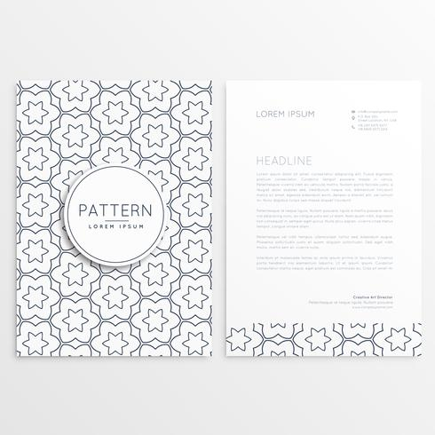 letterhead template with front and back side both