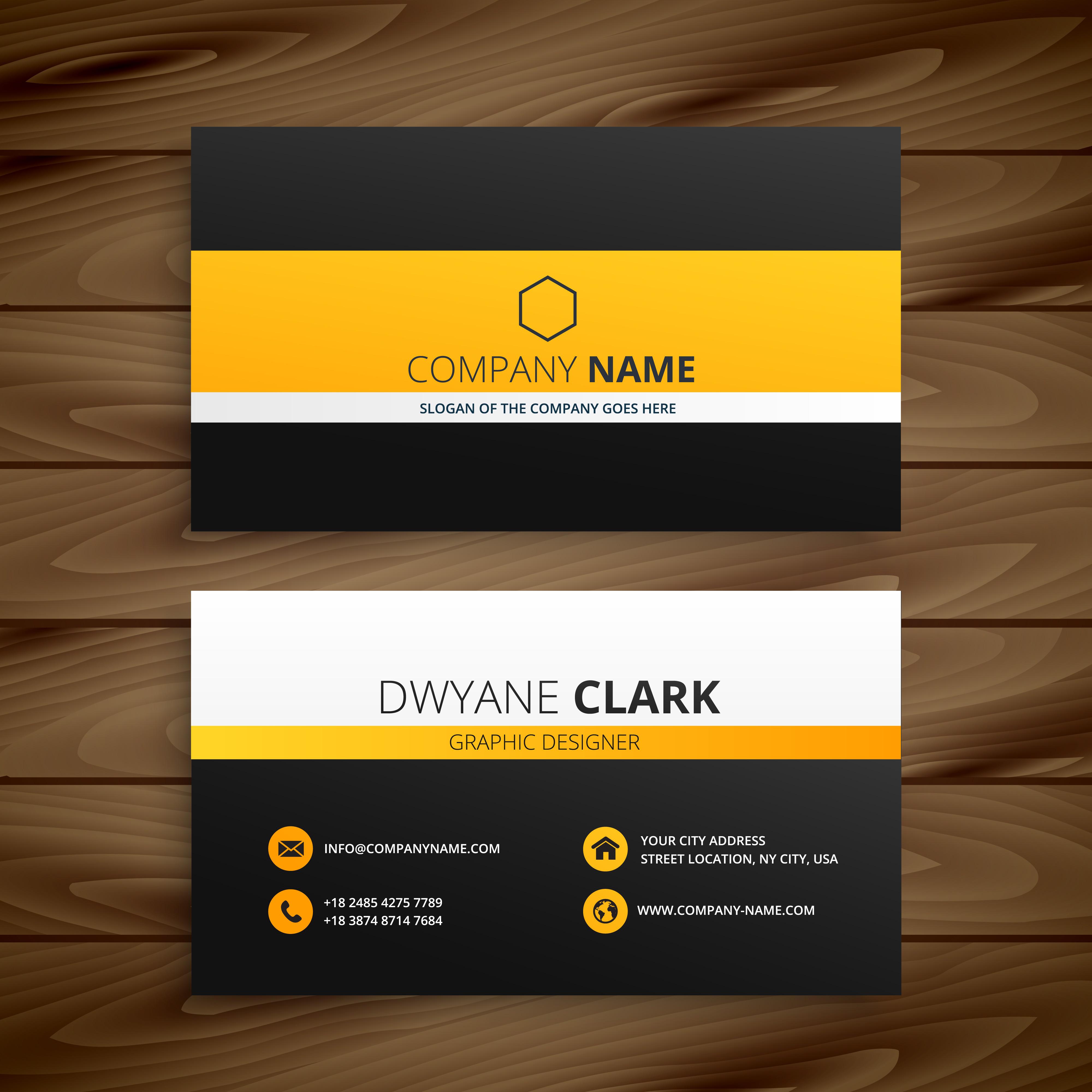 modern business card template template vector design