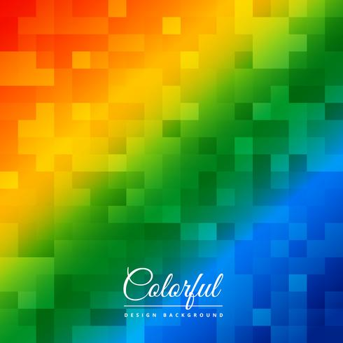 abstract colorful mosaic poster vector design illustration