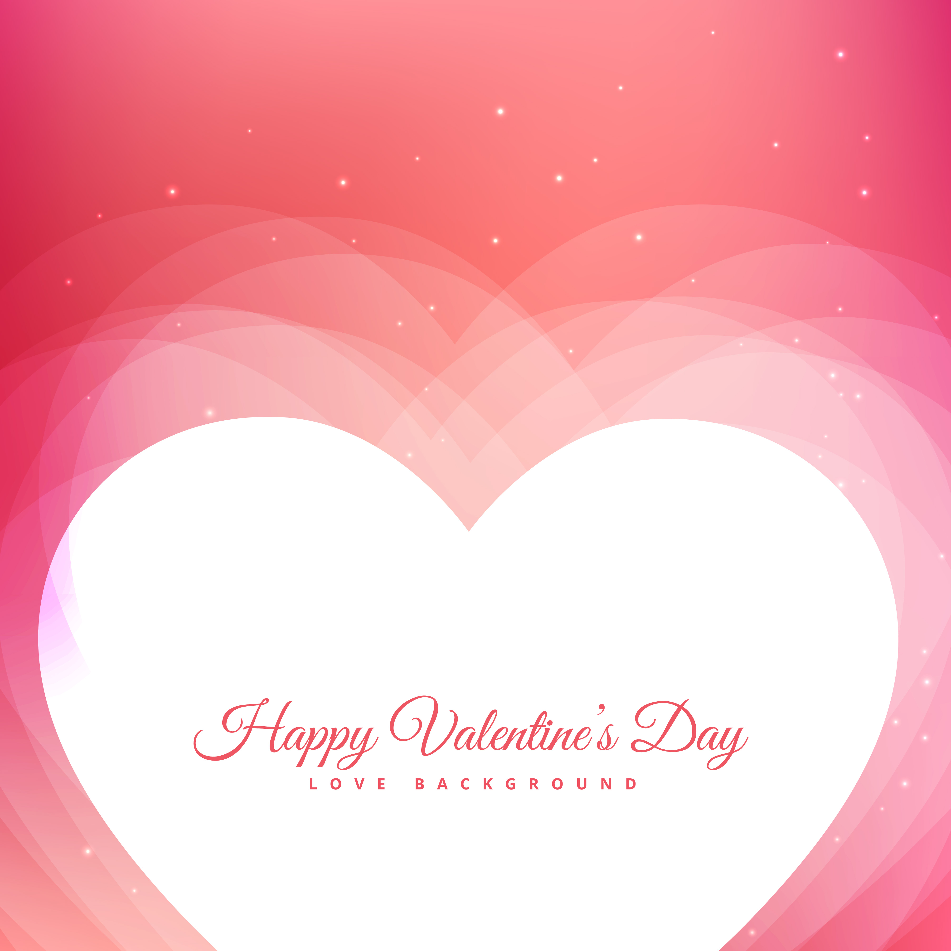 Valentines Day Design With Pink Background And Hearts Vector Des