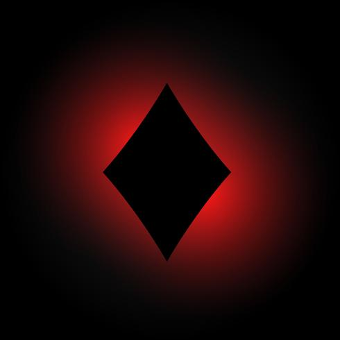 forma de diamante em fundo escuro e brilhante