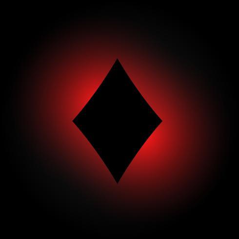 diamantform i mörk glödande bakgrund