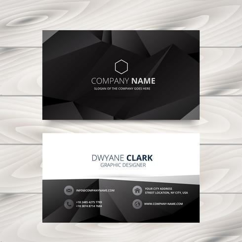 Dark modern business card design illustration download free vector dark modern business card design illustration reheart Gallery