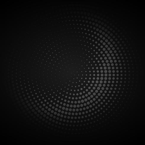 mörk cirkulär halvton bakgrund vektor design illustration