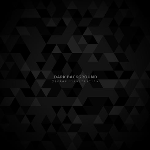 abstract trianglulated dark background vector design illustratio