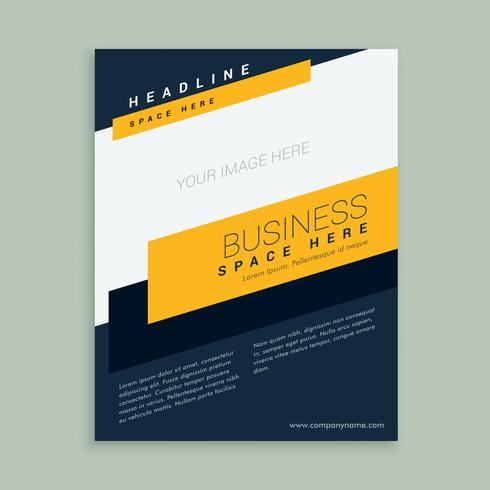 business shape flyer brochure template