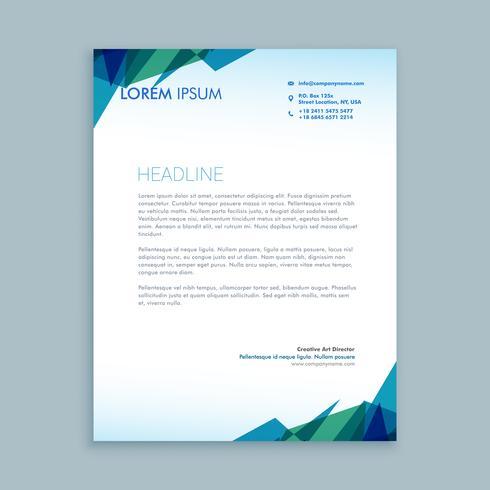 creative abstract letterhead  template vector design illustratio
