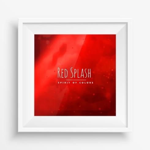 red abstract splash background