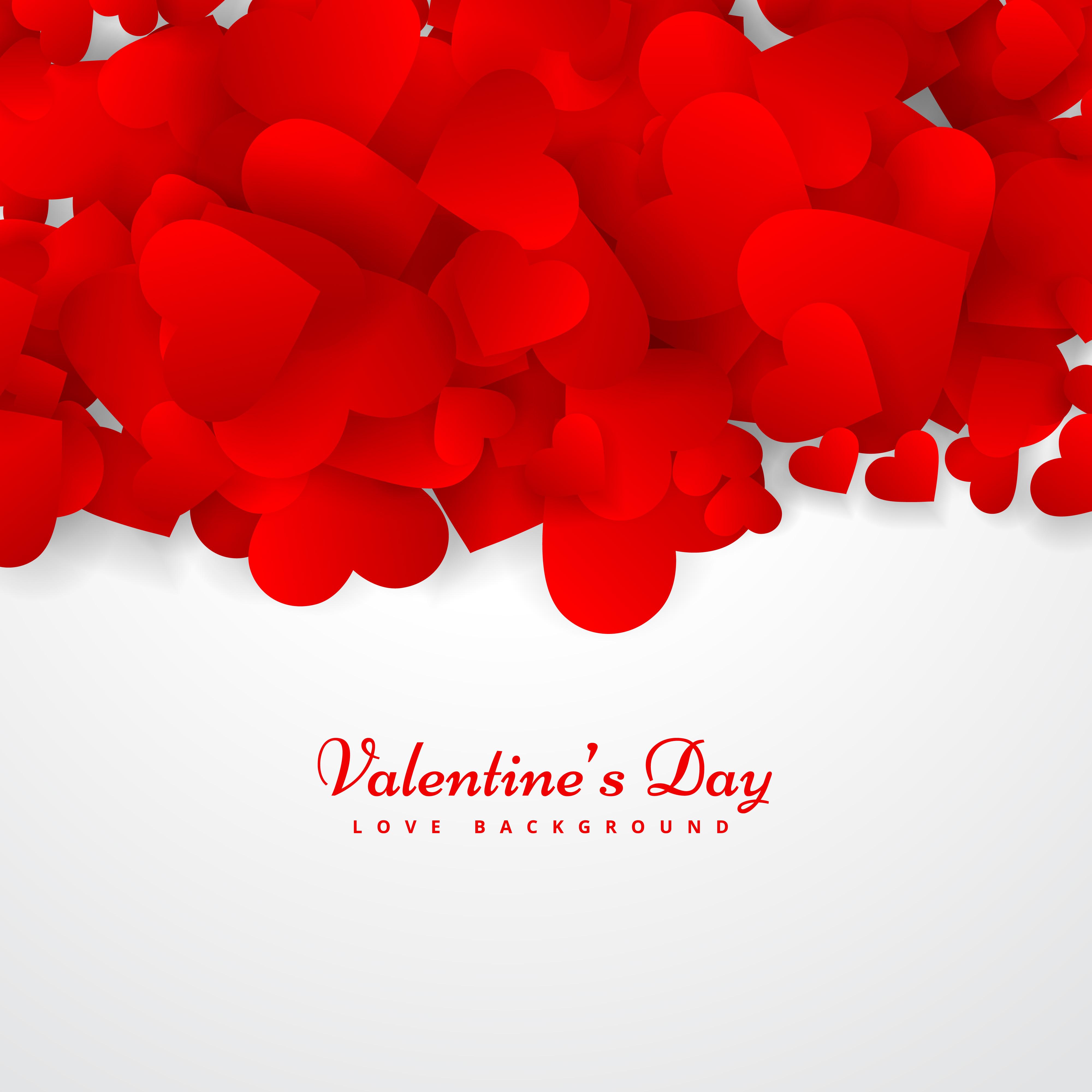 Valentines Day Greeting Card Vector Design Illustration