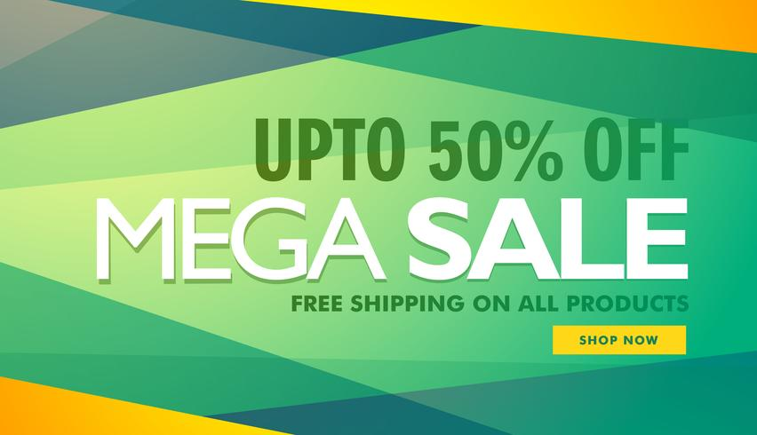 mega sale creative design banner template