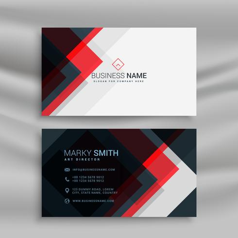 Vector red and black creative business card template design vector red and black creative business card template design reheart Images