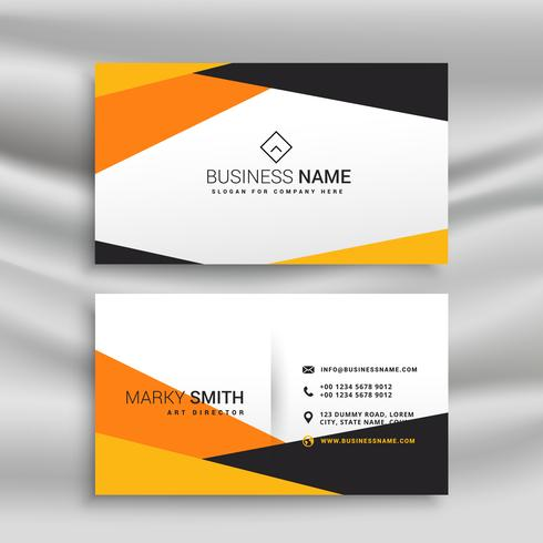 geometric yellow and black business card design