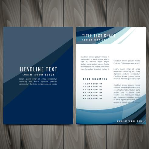 vector blue business brochure design illustration
