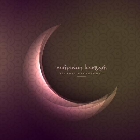 beautiful shining moon of ramadan and eid festival