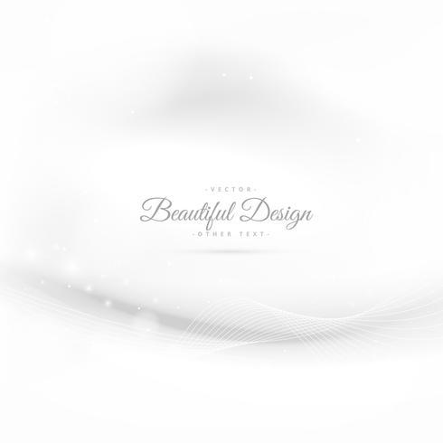 elegant white background with wave