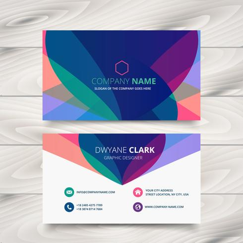 modern colorful business card template presentation design