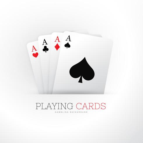 poker card four aces background