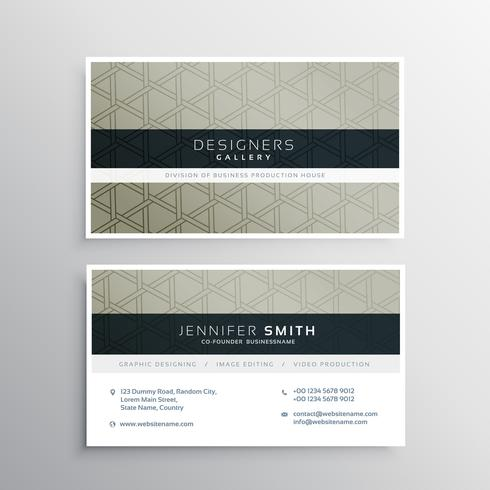 modern business card vector design for your company