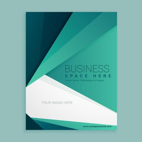 minimal green business brochure vector design